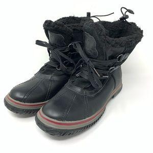 Pajar Womens Black Waterproof Ankle Snow Boots